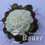 Brautstrauß weiße Rosen