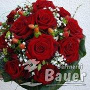 Brautstruß rote Rosen